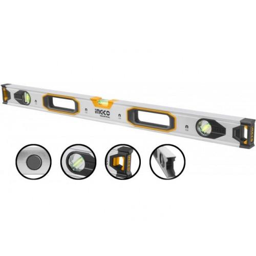 Рівень 120 см 3 капсули алюмінієва рамка 1.5 мм з магнітами INGCO INDUSTRIAL