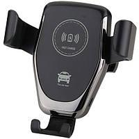 Автодержатель Holder для мобильного телефона с беспроводной зарядкой 9,8см Чёрный (HZ-HWC-1)
