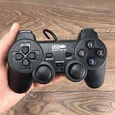 Проводной USB игровой джойстик для ПК Double Shock 2 геймпад юсб дуалшок dualshock на компьютер компьютера