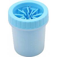 Лапомойка для собак и кошек 500 мл Soft Gentle Silicone Bristles голубая
