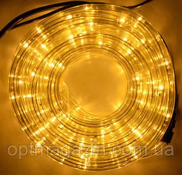 Гірлянда шланг вул ЛІД довжина 10м 6 режимів коль жовтий, фото 2