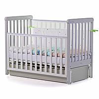 Детская кроватка Alba, «Carrello», цвет White - Grey (белый - серый)