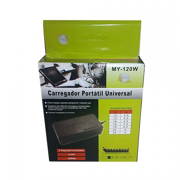 Универсальное зарядное устройство для ноутбуков POWER MY-120W