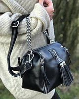 Женская кожаная сумка из натуральной кожи  клатч женский кожаный черный кроссбоди сумки 2020 df265f1, фото 1