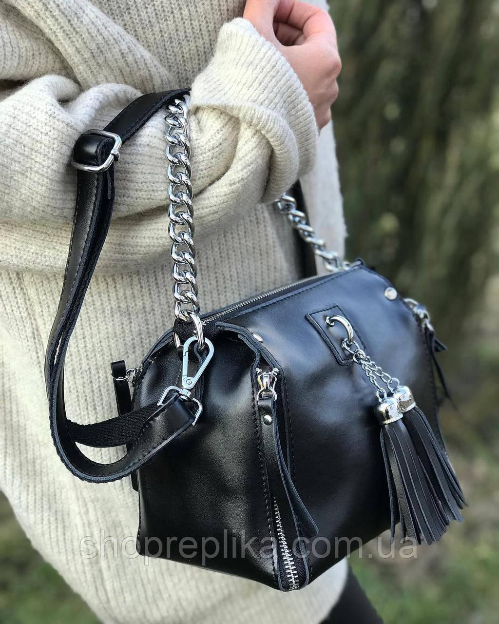 Женская кожаная сумка из натуральной кожи  клатч женский кожаный черный кроссбоди сумки 2020 df265f1