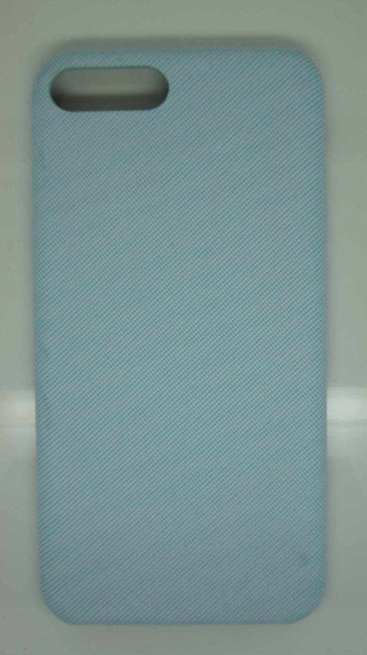 Чехол для iPhone 7 / 8 Голубой под ткань
