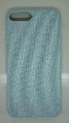 Чехол для iPhone 7 / 8 Голубой под ткань, фото 2