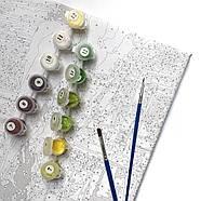Охапка пионов, премиум картина по номерам, размер полотна 400х500 мм, фото 6