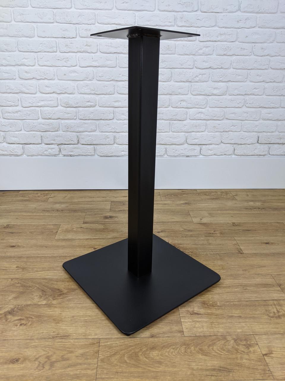 """Черная опора из металла """"UNO"""" ножка для столика в ресторан кафе бар"""