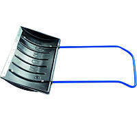 Движок для уборки снега пластиковый, 780х420х1140 мм, стальная рукоятка, Россия Сибртех