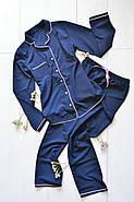 Пижама, комплект рубашка штаны, фото 3
