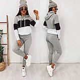 Стильный повседневный костюм в спортивном стиле из двунитки, фото 2