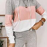 Стильный повседневный костюм в спортивном стиле из двунитки, фото 7
