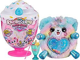 Интерактивная мягкая игрушка Щенок 15 сюрпризов ZURU Rainbocorns Plush Sweet Shake Surprise