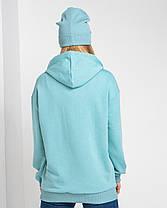 Худі UNISEX (для жінок і чоловіків). Бірюзовий колір. Розмір XS., фото 2