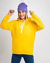 Худі UNISEX (для жінок і чоловіків). Бірюзовий колір. Розмір XS., фото 3