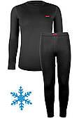 Термокостюм детский тёплый унисекс Кифа (Kifa) VORTEX Active Comfort КДД-2256U, черный 32 (116-122)
