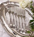 Набор десертных вилочек с розочкой, серебрение, мельхиор, Германия, ANTIKO 100, фото 6