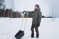 Лопата для прибирання снігу Fiskars 143021, скрепер-волокуша, фото 3