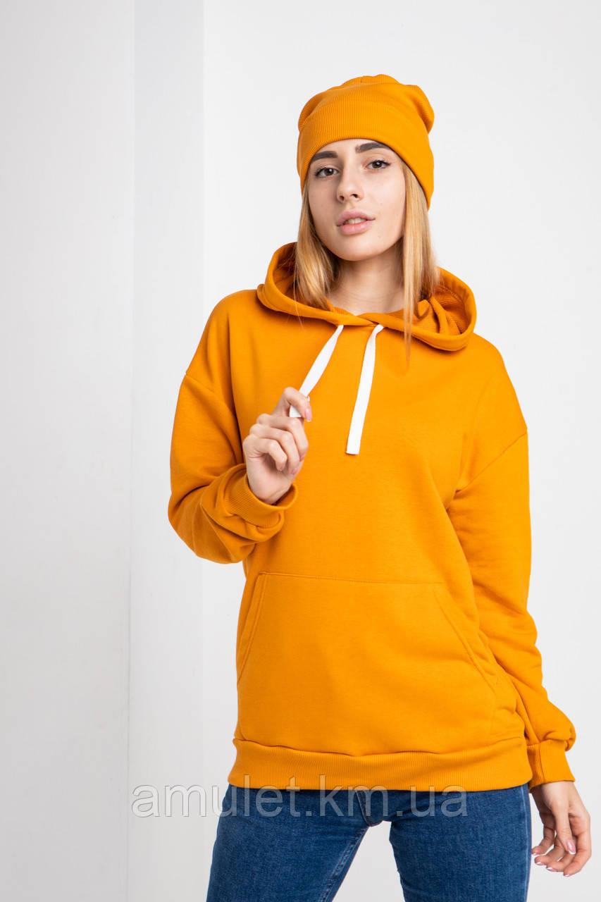 Худі UNISEX (для жінок і чоловіків). Помаранчевий колір. Розмір.