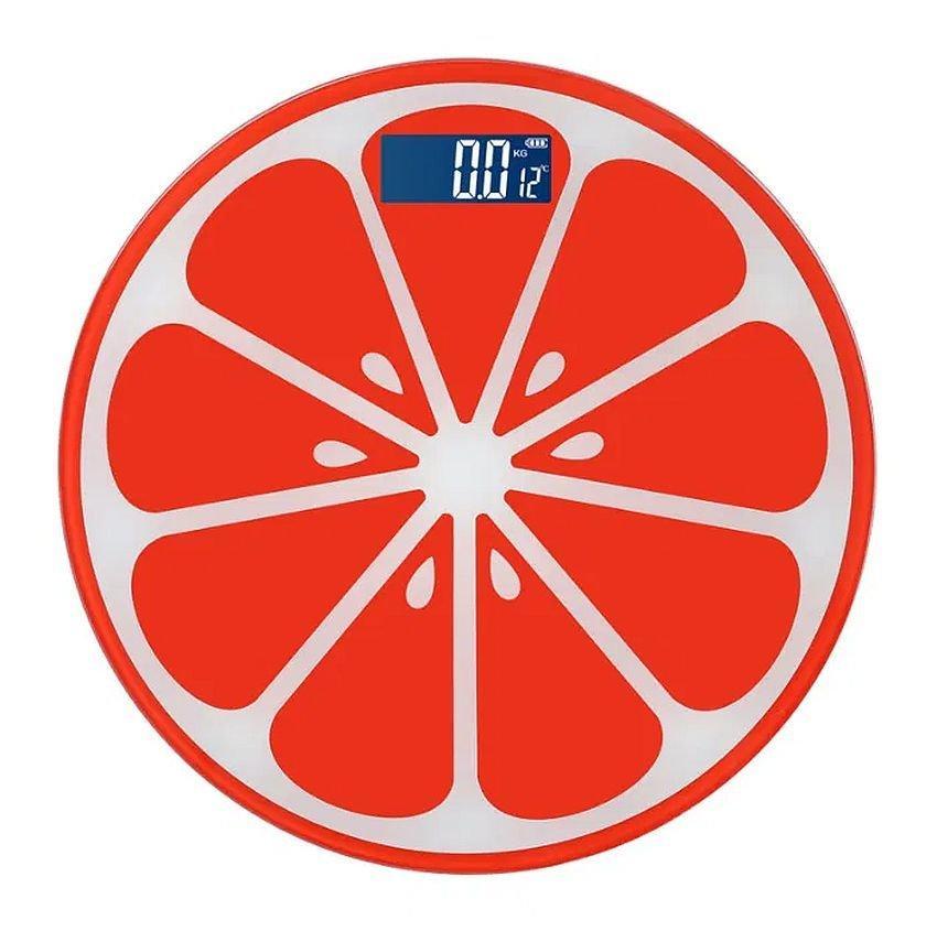 Напольные весы scale апельсин до 180 кг, red