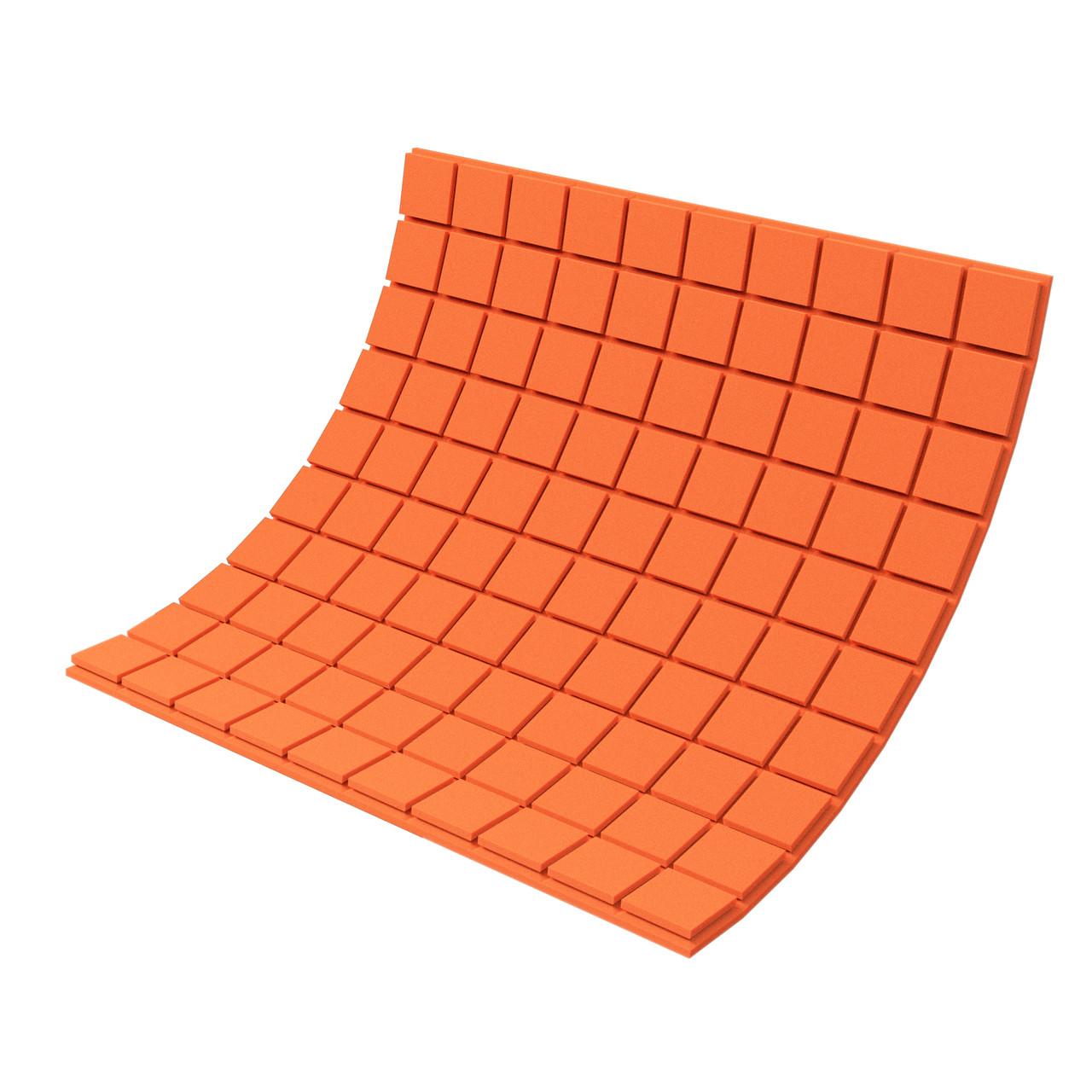 Панель з акустичного поролону Ecosound Tetras Color товщиною 30 мм, розміром 100х100 см, оранжевого кольору