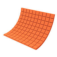 Панель з акустичного поролону Ecosound Tetras Color товщиною 30 мм, розміром 100х100 см, оранжевого кольору, фото 1