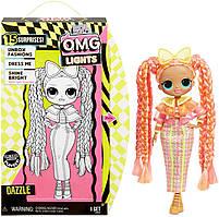 Лялька Лол ОМГ світиться неонова Даззл L. O. L. Surprise! O. M. G. Lights Dazzle Fashion Doll with 15 Surprises