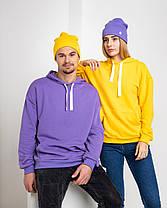 Худі UNISEX (для жінок і чоловіків). Жовтий колір. Розмір XS., фото 3