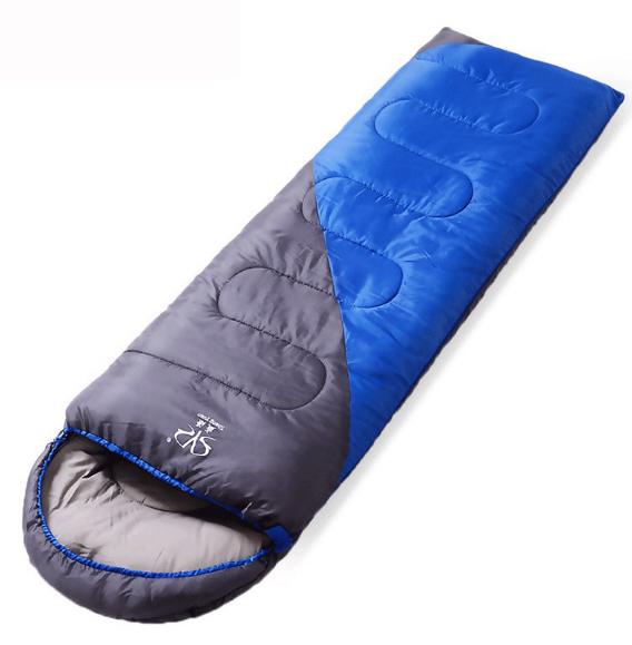 Спальний мішок ковдра з капюшоном +10 до -10 SY-D02 синій