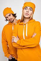 Худі UNISEX (для жінок і чоловіків). Помаранчевий колір. Розмір., фото 3