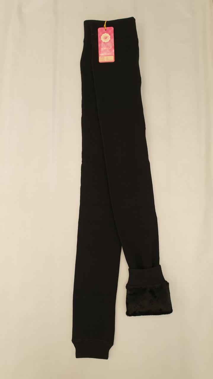 Черные лосины Шугуан на меху для девочек 140,146,152 роста Школьные