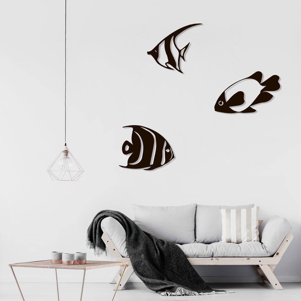 "Декор для стен. Панно из металла ""Морские рыбы"""