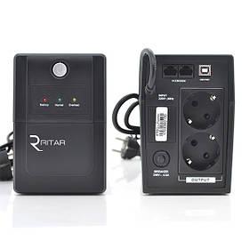 ИБП линейно-интерактивный Ritar RTP850L-U Proxima-L 510Вт с USB 2 евророзетки на выходе для резервного питания