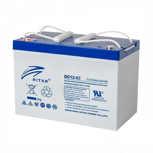 Аккумуляторная батарея GEL RITAR DG12-65, Gray Case, 12V 65Ah  ( 350 х 167 х 182 ) Q1