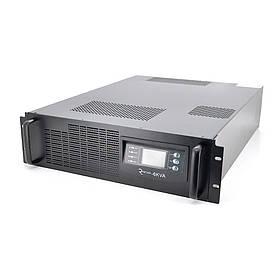 ДБЖ з правильною синусоїдою ONLINE RT-6KS-LCD, RACK 6000VA (5400Вт), 192 В, Вбудована батарея 12V 7,5 Ah х 16