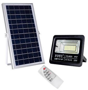 LED прожектор FOYU 25 Вт фонарь на солнечной батарее с пультом управления свечение14 часов