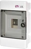 Щит встраиваемый распределительный ECM 4 PT (4мод.прозр.дверь) IP40, ETI, 1100142