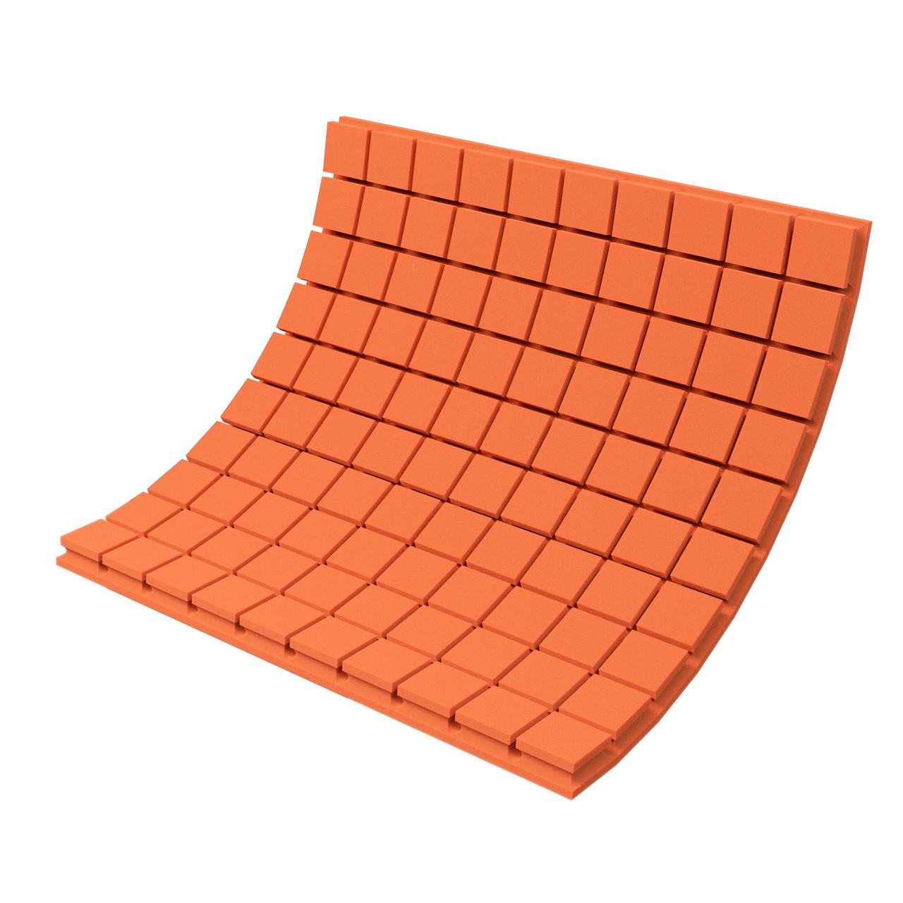 Панель з акустичного поролону Ecosound Tetras Color товщиною 70 мм, розміром 100х100 см, оранжевого кольору