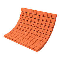 Панель з акустичного поролону Ecosound Tetras Color товщиною 70 мм, розміром 100х100 см, оранжевого кольору, фото 1
