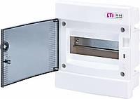 Щит встраиваемый распределительный ECМ 8PT (8мод.прозр.дверь) IP40, ETI, 1101010