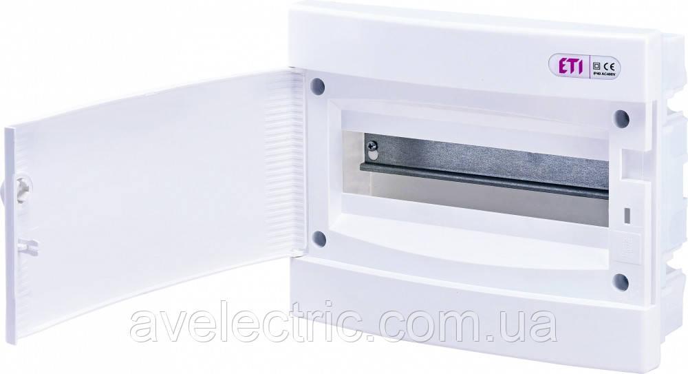 Щит встраиваемый распределительный ECМ 12PO (12мод.белая дверь) IP40, ETI, 1101015