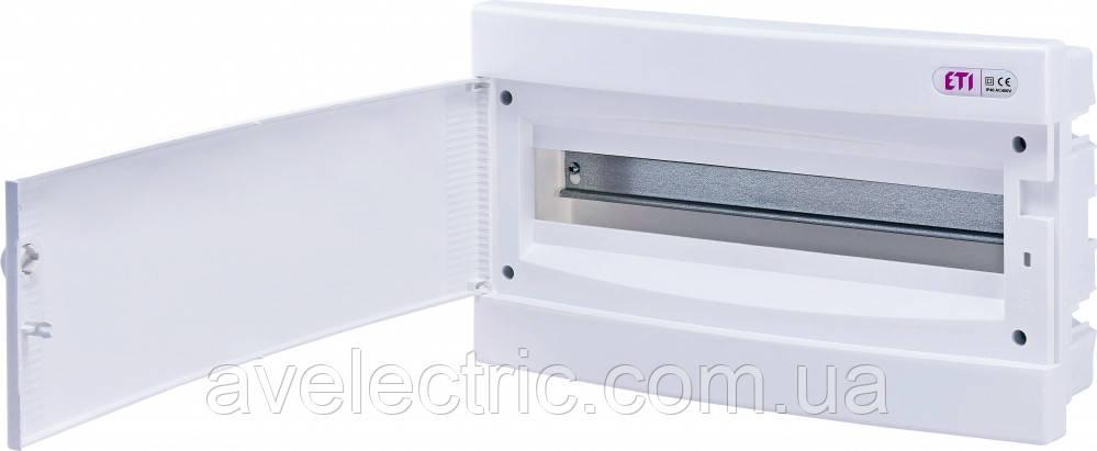 Щит встраиваемый распределительный ECМ 18PO (18мод.белая дверь) IP40, ETI, 1101019