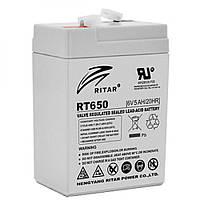 Акумулятор AGM RITAR RT650, 5Ah 6V