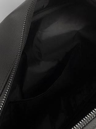 Сумка кожаная спортивная черная (унисекс) Puma, Пума, фото 3