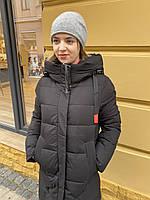 Пуховик пальто куртка женская длинная спортивная классика молодежная стильная теплая легкая зимняя с капюшоном