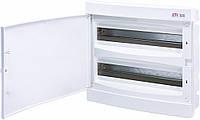 Щит встраиваемый распределительный ECМ 2x18PO (36мод.белая дверь) IP40, ETI, 1101084
