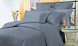 """Комплект постельного белья полуторный из сатина ТМ """"Ловец снов"""", Страйп сатин синий, фото 2"""
