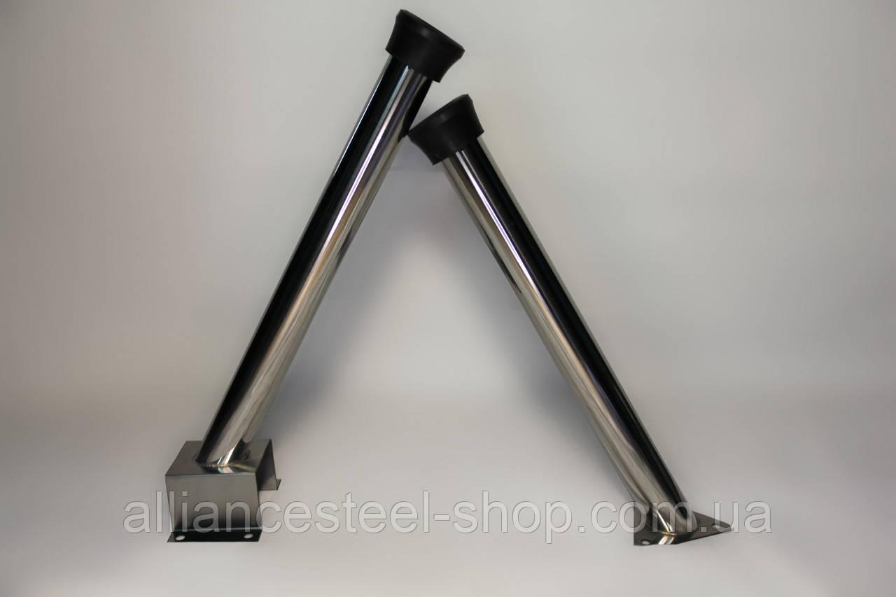 Тримач для пістолета підлоговий 615mm, нержавійка (Альянс Сталь)