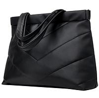 Сумка серебренная Shopper Женская качественная сумка для покупок Вместительная сумка черный